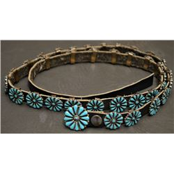 ZUNI INDIAN CONCHO BELT