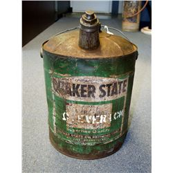 Quaker State Oil Can - SOLD!!!