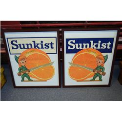 Original Sunkist Labels - Framed