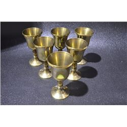Set of Vintage Brass Chalice (Heavy)