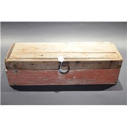 Old wooden tool box & tools