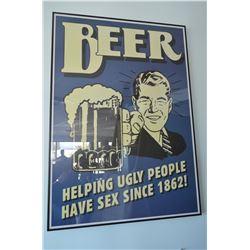 """Custom Framed Poster - """"Beer…"""""""