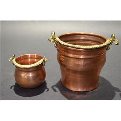 Set of 2 Copper Pots