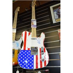 Authentic Brad Paisley Signed Full-Size Electric Guitar - PSA-COA