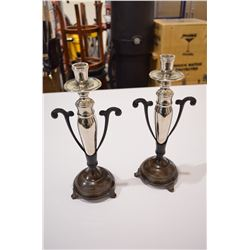 Set of Vintage Candle Holders