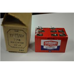 Vintage Eveready battery and Original Box No 778