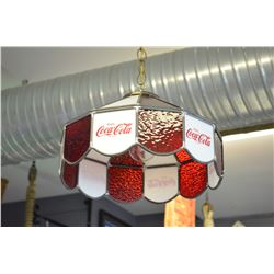 Old Coca-Cola hanging light - SOLD!!!