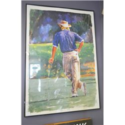 Greg Norman Golf art - framed