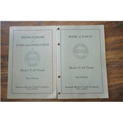 "Model T-19 Truck Manuals ""First Edition"""