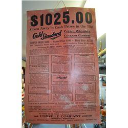 Vintage Cardboard Sign
