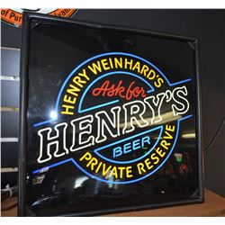 """Henry's"" Bar Sign - Working"