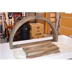 Rare LARGE Vintage Wooden Wheel Mould