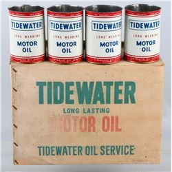 """24 - """"Tidewater"""" - NOS-Oil Cans in Original Case"""