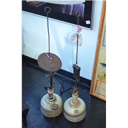 Pair of Quick-Lite fuel lanterns