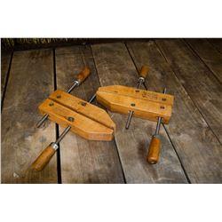 "Vintage ""Jorgensen wood clamps"