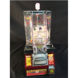 """Vintage """"Play And Score"""" 25 Cent Basketball Candy Dispenser Game On Swivel Base"""