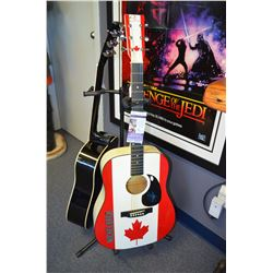 Authentic Chad Kroeger Signed Full-Size Acoustic Guitar (JSA COA)
