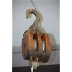 Vintage Wooden Pully