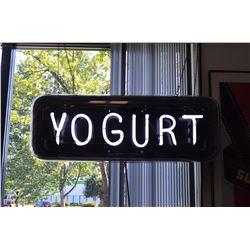 """Neon """"Yogurt"""" Sign"""