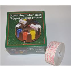 NEW Revolving Poker Rack & Roll Tickets