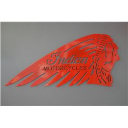 Indian Motorcycles Sign (steel)