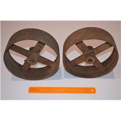 2 - Large Steel Wheels