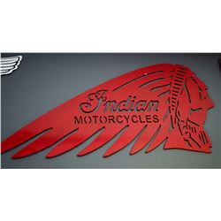 "Large Steel ""Indian Motorcycle"" Sign"