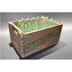Canada Dry Box - WITH Old Coca-Cola Bottles