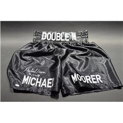 Autographed Michael Moorer Boxing Shorts