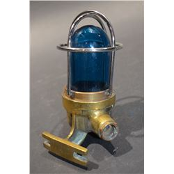 Brass Ship Light (Blue)