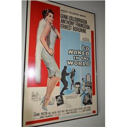 """Go Naked In The World"" Poster - Framed"