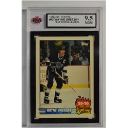 1990-91 Topps Team Scoring Leaders #12 Wayne Gretzky