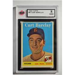 1958 Topps #21 Curt Barclay