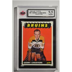 1965-66 Topps #31 Gerry Cheevers RC **NGM - 9.5**