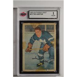 1953-54 Parkhurst #13 Tim Horton