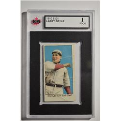 1910 E102 Set of 25 #10B Larry Doyle Throwing