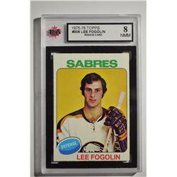 1975-76 Topps #306 Lee Fogolin RC