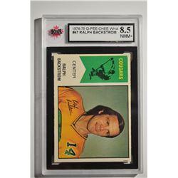 1974-75 O-Pee-Chee WHA #47 Ralph Backstrom