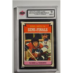 1974-75 O-Pee-Chee #213 Semi-Finals/Flyers over Rangers