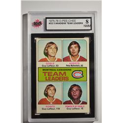 1975-76 O-Pee-Chee #322 Canadiens Leaders/Guy Lafleur/Pete Mahovlich