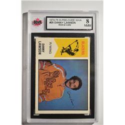1974-75 O-Pee-Chee WHA #25 Danny Lawson RC