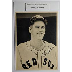 1948 Boston Red Socks  Picture Pack- Earl Johnson