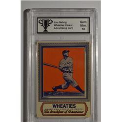 Lou Gehrig - Wheaties Card