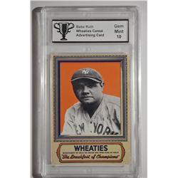 Babe Ruth - Wheaties Card