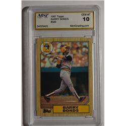 1987 Topps #320 Barry Bonds RC - GEM MINT 10!