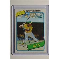 1980 Topps #482 Rickey Henderson RC/UER