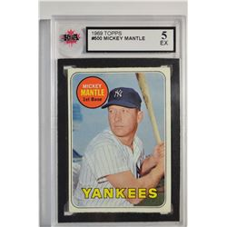1969 Topps #500A Mickey Mantle UER