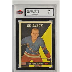 1958-59 Topps #30 Eddie Shack RC