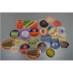 Assorted vintage stickers