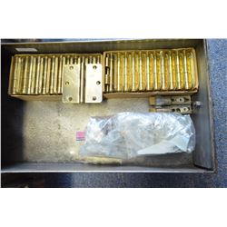 Lot of brass door hinges